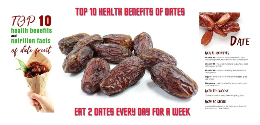 Top 10 Health Benefits of Dates - Eat 2 Dates Every Day for a Week