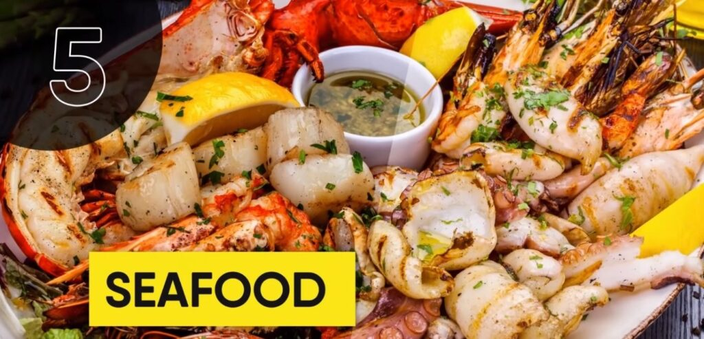 Seafood - Top 5 High Thermic Foods